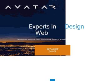 Main page screenshot of avatar.co.nz