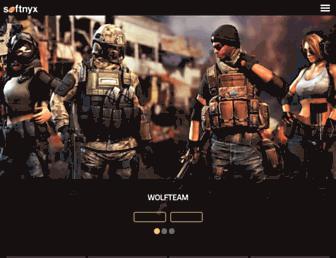 Main page screenshot of softnyx.co.kr