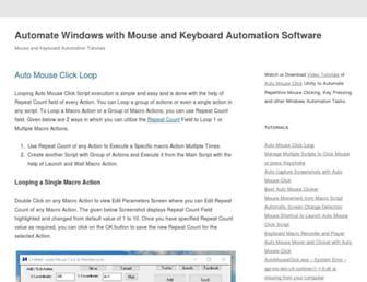 tutorials.automouseclick.com screenshot