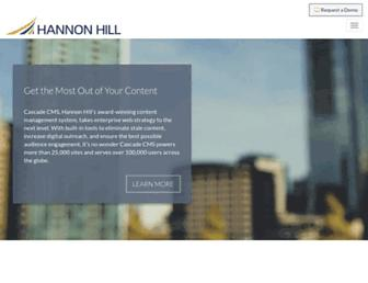 hannonhill.com screenshot