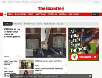 Main page screenshot of blackpoolgazette.co.uk