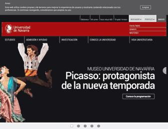 Main page screenshot of unav.es
