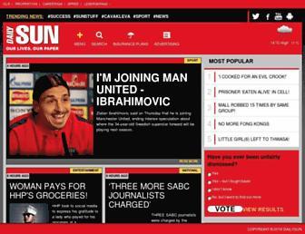 dailysun.co.za screenshot