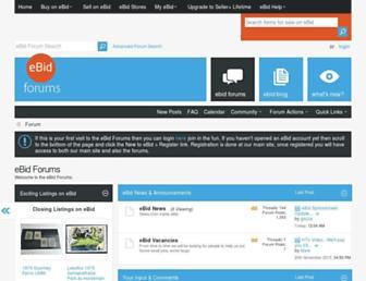 Main page screenshot of helpdesk.ebid.net