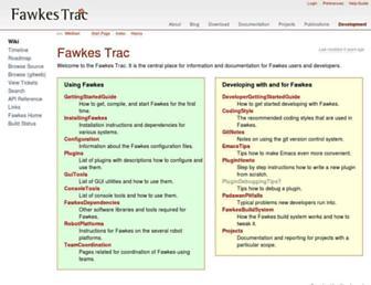 trac.fawkesrobotics.org screenshot