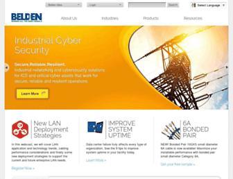 belden.com screenshot