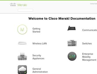 documentation.meraki.com screenshot