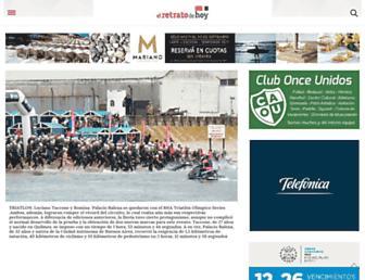 Main page screenshot of elretratodehoy.com.ar