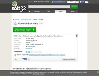 powermp3-for-nokia.soft32.com screenshot