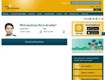 sunlifemalaysia.com screenshot
