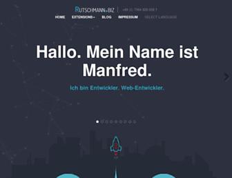 Main page screenshot of rutschmann.biz