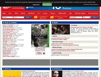 Main page screenshot of cinemadelsilenzio.it