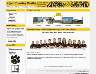 tigercountryrealty.com screenshot