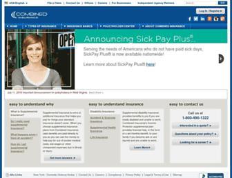 combinedinsurance.com screenshot
