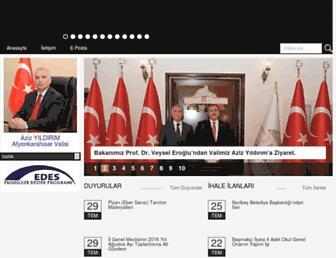 Main page screenshot of afyonkarahisar.gov.tr