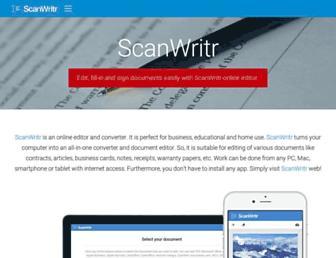 scanwritr.com screenshot
