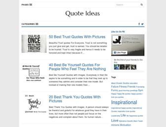 quoteideas.com screenshot