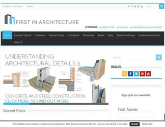 firstinarchitecture.co.uk screenshot