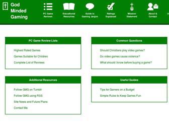 godmindedgaming.com screenshot