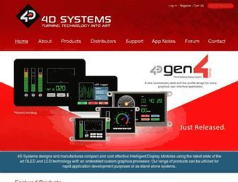 4dsystems.com.au screenshot