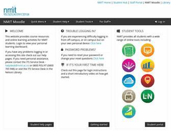 ecampus.nmit.ac.nz screenshot