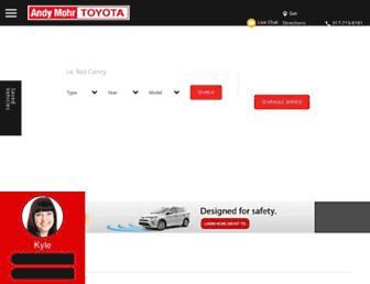 andymohrtoyota.com screenshot