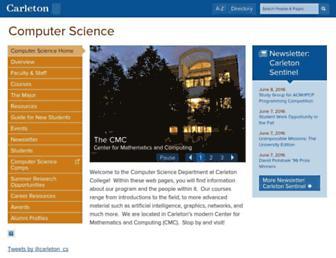 cs.carleton.edu screenshot