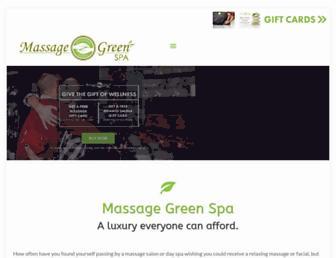 massagegreenspa.com screenshot