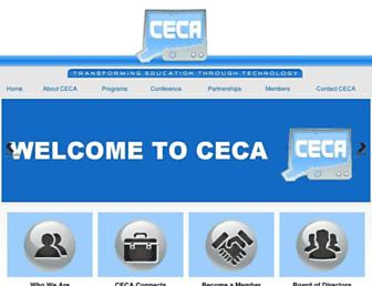 Main page screenshot of ceca-ct.org