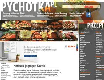 Main page screenshot of pychotka.pl