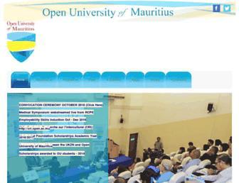 open.ac.mu screenshot