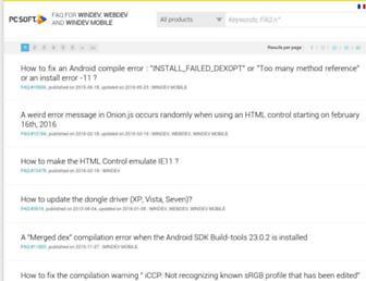 faq.windev.com screenshot