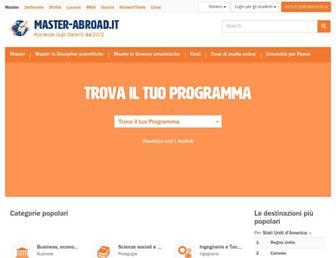 master-abroad.it screenshot