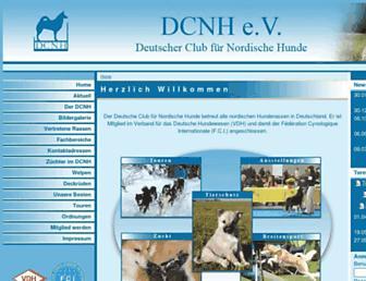 Main page screenshot of dcnh.de