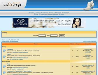 Main page screenshot of forum.kobiet.pl