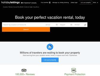 holidaylettings.com screenshot