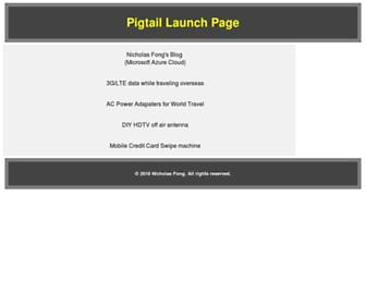 Main page screenshot of pigtail.net