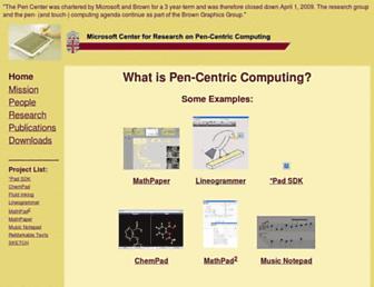Main page screenshot of pen.cs.brown.edu