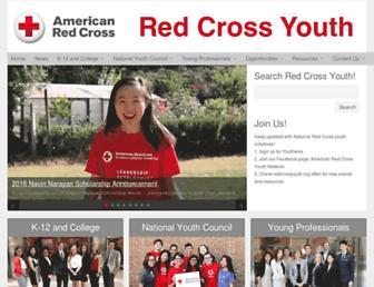 redcrossyouth.org screenshot