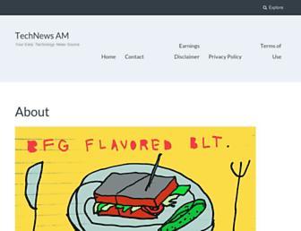 Main page screenshot of technews.am