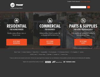 trane.com screenshot