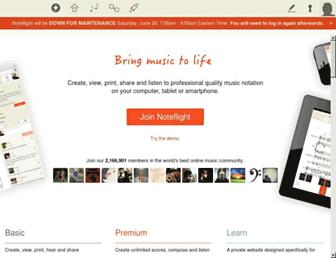 noteflight.com screenshot