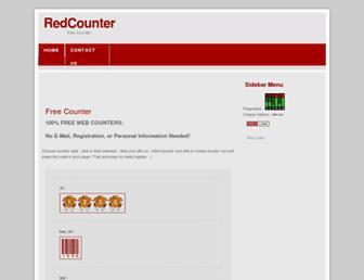 Main page screenshot of redcounter.net