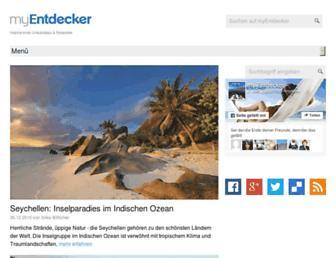 Main page screenshot of my-entdecker.de