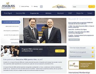 Main page screenshot of asebuss.ro