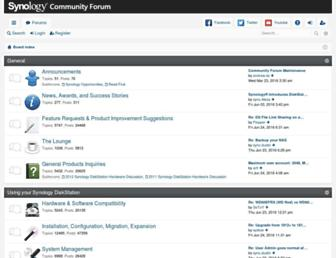 forum.synology.com screenshot