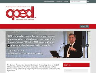 Main page screenshot of cpedinitiative.org