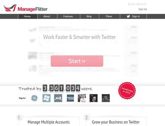 Thumbshot of Manageflitter.com