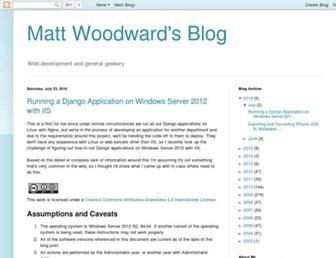 blog.mattwoodward.com screenshot