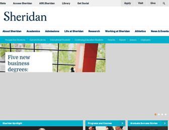 Main page screenshot of sheridancollege.ca